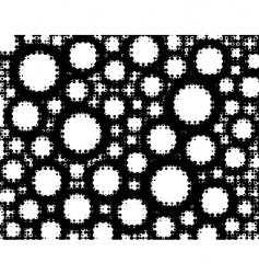 circle grunge vector image