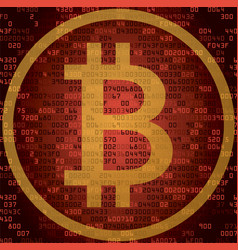cryptocurrency bitcoin and blockchain technology vector image