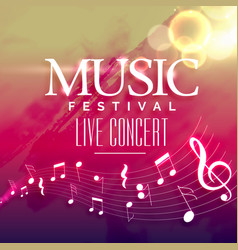 music party invitation background design vector image vector image