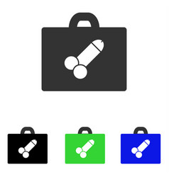 Sexual toolbox flat icon vector