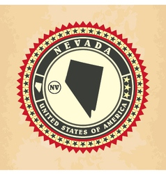 Vintage label-sticker cards of Nevada vector image vector image