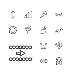 13 arrows icons vector