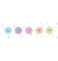 5 bikini icons vector