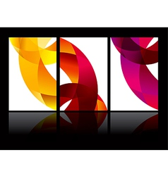 Abstract background set eps10 vector