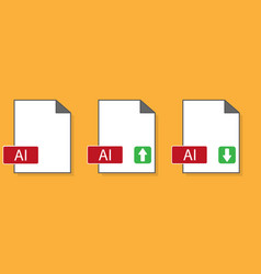 Ai file format graphic extension vector