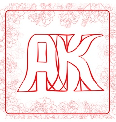 AK monogram vector image