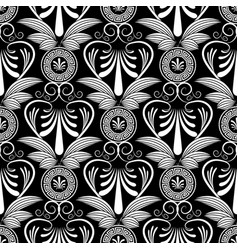 Ancient grecian floral seamless pattern greece vector