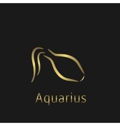 Aquarius Zodiac sign vector