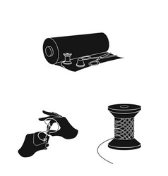 atelier and equipment black icons in set vector image