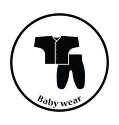 Baby wear icon vector