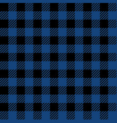 Blue lumberjack seamless pattern vector