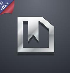 bookmark icon symbol 3D style Trendy modern design vector image
