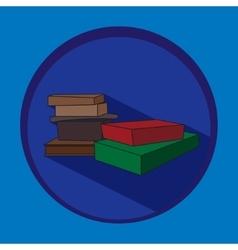 Books in flat design vector