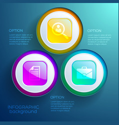 Business infographic web design concept vector