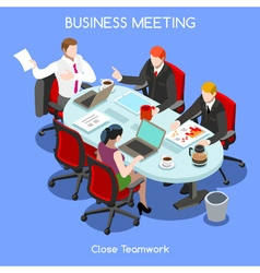 Business Room 03 People Isometric vector image