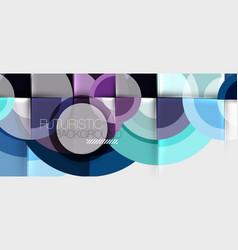 circular geometrical design template vector image
