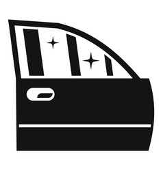 clean car door icon simple style vector image