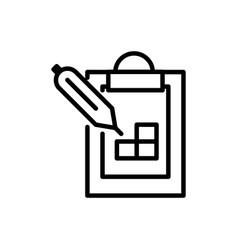 clipboard pencil plan architecture icon line style vector image
