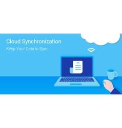Cloud synchronization vector image
