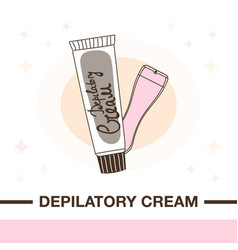 Cream for depilation and spatula vector