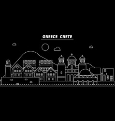 Crete silhouette skyline greece - crete vector