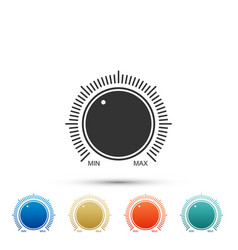 dial knob level technology settings icon isolated vector image