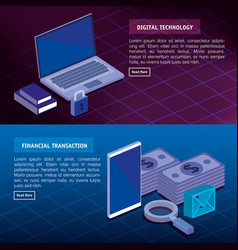digital technology and financial transaction vector image