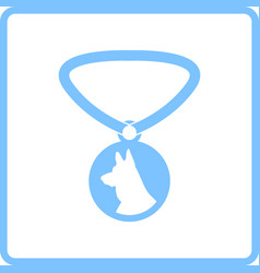Dog medal icon vector
