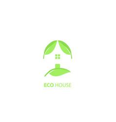 eco green house logo design vector image