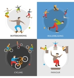 Extreme Urban Sports Square Concept vector
