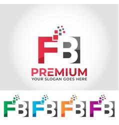 Fb alphabet logo design concept vector