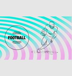 Football the player runs away with ball vector