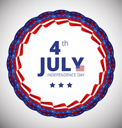 frame to the Independence day of 4th july vector image