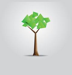 geometric tree with triangle shape vector image