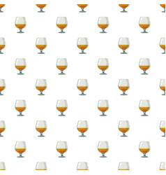 Glass of scotch or whiskey pattern vector