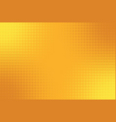 Golden yellow orange pop art background with vector