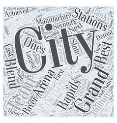 Grand rapids michigan Word Cloud Concept vector