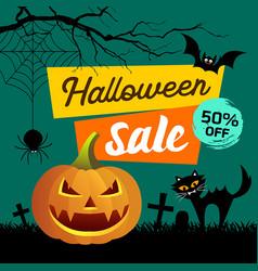 Happy halloween sale presentation concept vector