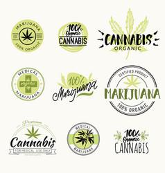 hashish rastaman hemp cannabis logos and vector image