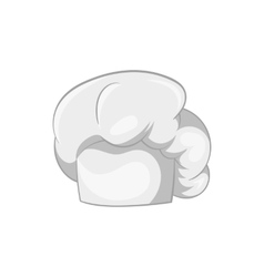 Hat chef icon black monochrome style vector