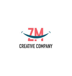 Initial letter zm dental logo concept vector
