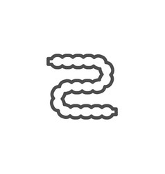 intestines line icon vector image