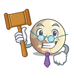 Judge pluto planet isolated in with mascot vector