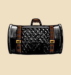 leather bag for a motorcycle vintage retro vector image