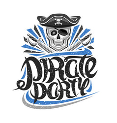 logo for pirate party vector image