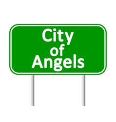 Los angeles green road sign vector