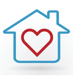 Love at home vector