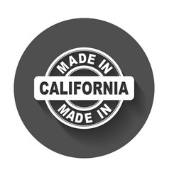 Made in california vector