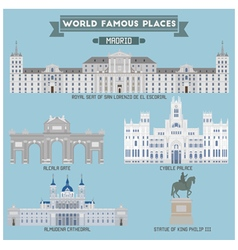 Madrid famous place vector