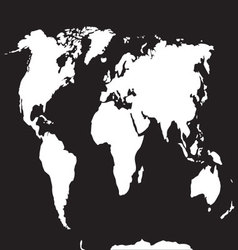 Map world black white vector